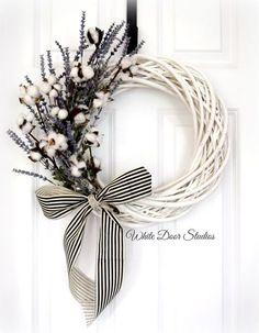 Southern Charm Wreath Front Door Wreath by WhiteDoorStudios