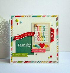 """Papers and die cuts from Simple Stories """"Good Day Sunshine"""""""