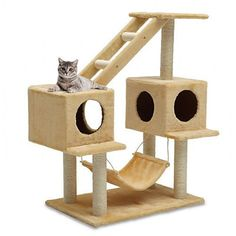 ♥ Cool Cat Towers ♥ Cat Tree Condo Classic Scratcher Posts Cats Climbing Towers Furniture Kitty -- Remarkable product available now. Cat Tree House, Cat Tree Condo, Cat Condo, Cat Climbing Tree, Cat Climber, Diy Cat Tree, Cat Activity, Cat Towers, Cat Stands