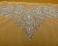Rhinestone Applique for Backless Wedding Gown Bridal by gebridal