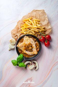 Montmartre-i bohém csirkemell, hasábburgonya #food #fooddelivery #gastroyal #chickenbreast