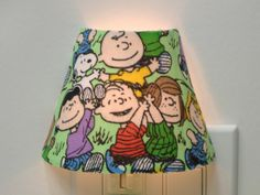 Peanuts Gang Snoopy Charlie Brown Night Light by smokymtcreations, $13.99