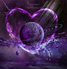 Awesome purple art with lots of impact and heart!