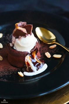 """foodiebliss: """" Decadent Molten Lava Cakes (4 Surprise Fillings) Source: Cleobuttera Where the food lovers unite. """""""