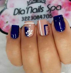 Easy Nails, Simple Nails, Nail Art Designs, Finger Nails, Long Nail Art, Short Nail Manicure, Nail Manicure, Polish Nails, Paris Nails