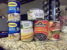 Six Can Chicken Tortilla Soup - http://socalcouponmommy.com/2012/04/stock-pile-cooking-six-can-chicken-tortilla-soup/ #soup #recipe