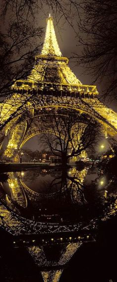 Eiffel Tower At Night Paris