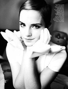 Emma Watson by Mario Testino forVogue UK (December 2010).
