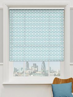 Lace Powder Blue Roller Blind from Blinds 2go