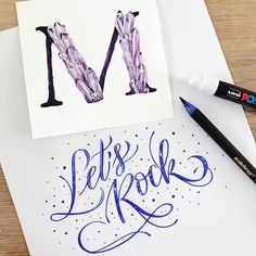 Mineral lettering by @lililettering