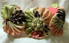 Carter- Yo-Yo  Flower Headband by GarnishedGirl for $15.00