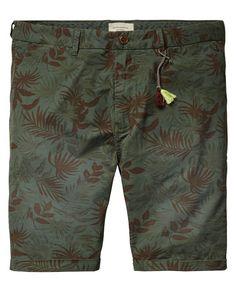 Printed Chino Shorts - Scotch