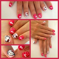 hello kitty #nail #nails #nailart