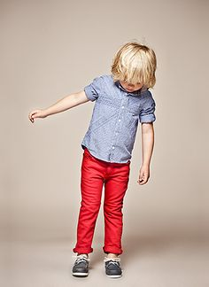 kids red jeans and denim