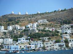 Patmos Greek Island Windmills