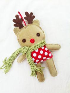 reindeer pattern | Reindeer Ornament Pattern - Mini Doll Sewing Pattern - Deer Doll PDF ...