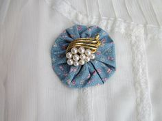 Jewelry & Watches Vintage Quilted Christmas Yo Yo Brooch Pin New