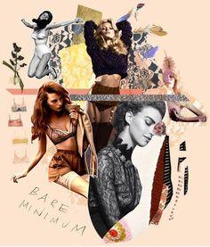 Bullet magazine lingerie moodboard