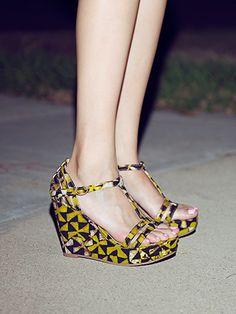 """""""I Got It"""" (Della Print) - BC Footwear #Della #wedges"""