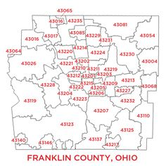 Zip Code Map Columbus Oh on