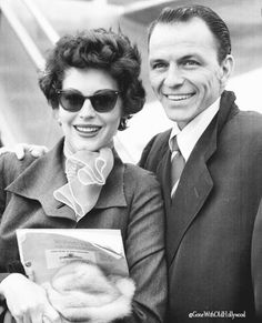 Frank and Ava at the airport, 1951 - - |#FrankSinatra #AvaGardner #OldHollywood…