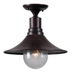 World Imports, Brandon 1-Light Bronze Semi Flushmount, WI9071F89 at The Home Depot - Mobile.  Appliance pantry lighting