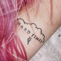 "Paramore ""Hard Times"" tattoo"