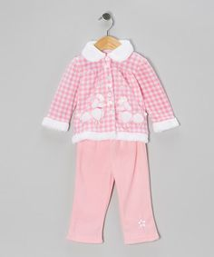 Take a look at this Pink Poodle Jacket & Pants - Infant by Young Hearts on #zulily today!