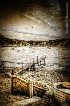 Lulworth Cove, England » #hdr #boot #photography #fotomontage #hafen #fotografie #bildbearbeitung #bucht