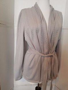 Belldini Open Front Cardigan Womens sz XL Grey w belt #Belldini #Cardigan #Casual