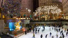 Rockefeller Center in New York City at Christmas - pedrosala / Shutterstock