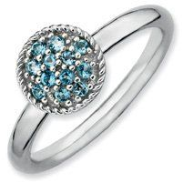 0.2ct Calming Silver Stackable Blue Topaz Ring. Sizes 5-10 Available Jewelry Pot. $34.99. 100% Satisfaction Guarantee. Questions? Call 866-923-4446. Your item will be shipped the same or next weekday!. 30 Day Money Back Guarantee. All Genuine Diamonds, Gemstones, Materials, and Precious Metals. Fabulous Promotions and Discounts!