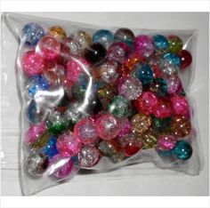 100 Multi-Colored Sparkling Glass Beads For Crafts & Jewelry Making Hobby/Shop on eBid United Kingdom