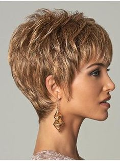 Hairstyles Brown Straight Cropped Men Wigs, Mens Punk Wigs – - New Site Short Hair With Layers, Short Hair Cuts For Women, Short Hairstyles For Women, Wig Hairstyles, Straight Hairstyles, Wedding Hairstyles, Cropped Hairstyles, Teenage Hairstyles, Short Haircuts