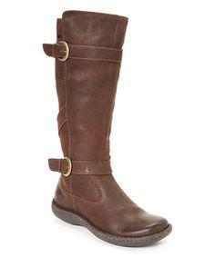 BOC Another great find on #zulily! Dark Brown Dalia Leather Boot #zulilyfinds