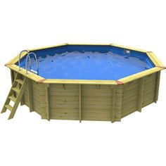 Eco Large Octagon Pool Wooden Pool, Flexible Pipe, Company Number, Blue Liner, Pool Equipment, Above Ground Swimming Pools, Installation Manual, Outdoor Furniture Sets, Outdoor Decor