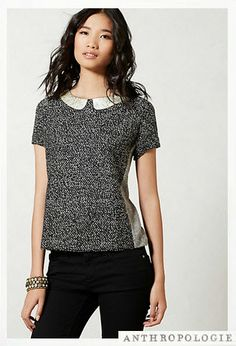 Cute yet sophisticated, this top is perfect for a young professional's business headshot. Anthropologie - on sale!