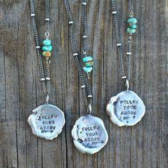 Follow your arrow turquoise necklace Handmade by Ashley Weber Against The Grain www.ashleyweber.com