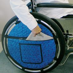 Wheel pouch  Easy to access and less bulky than the ones that go over the handles.