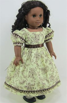 Reserved for Lorie - 18 Inch Doll Clothing for American Girl Dolls - A Summer Dress for Cecile or Marie-Grace