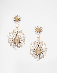 Burst drop earrings