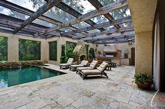 Gorgeous pool enclosure