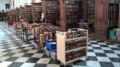 Crewe books in the Wren Library, Trinity College Cambridge, April 2016 Trinity Library, Wren, Cambridge, College, Books, Furniture, Home Decor, University, Libros