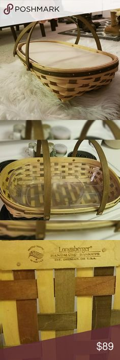 I just added this listing on Poshmark: Longaberger Woven Carrying Basket-with Food Tray. #shopmycloset #poshmark #fashion #shopping #style #forsale #Longaberger #Handbags