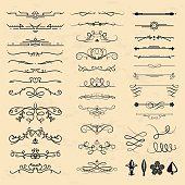 Decorative vintage elements vector illustration.