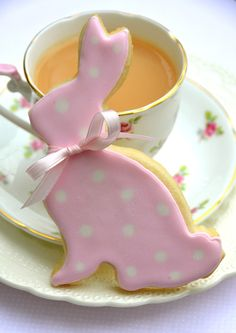Easter Bunny Cookie & tea ❤