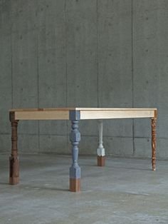 Ryo Chohashi Upcycled Table Mismatched Legs