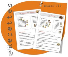 9 recettes de cuisine...avec ma classe. Teaching Activities, Feeling Happy, Math Centers, Comprehension, Projects To Try, Cooking Recipes, Bullet Journal, Classroom, Writing
