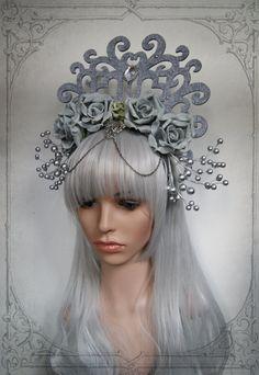 Eis-Königin Kopfschmuck Fascinator Hochzeit Fantasie