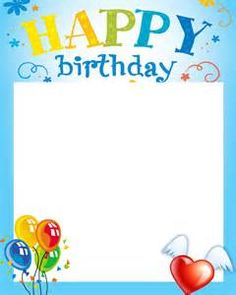 Happy Birthday page border. All borders are free and ...